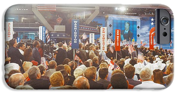 Election iPhone Cases - 1996 Republican National Convention iPhone Case by Panoramic Images