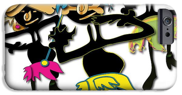 IPhone 6 Case featuring the digital art African Dancers by Marvin Blaine