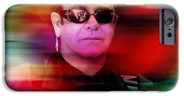 Elton John IPhone 6 Case by Marvin Blaine