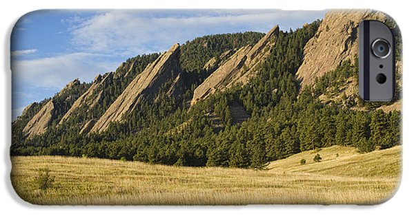 Flatirons With Golden Grass Boulder Colorado IPhone 6 Case