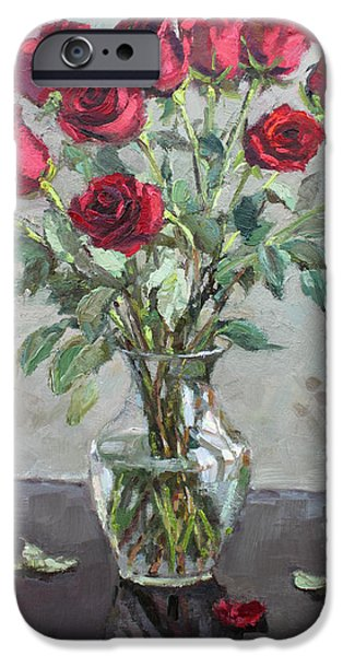 Red Rose iPhone 6 Case - Red Roses by Ylli Haruni