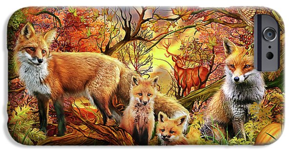 IPhone 6 Case featuring the drawing Spirit Of Autumn by Ciro Marchetti