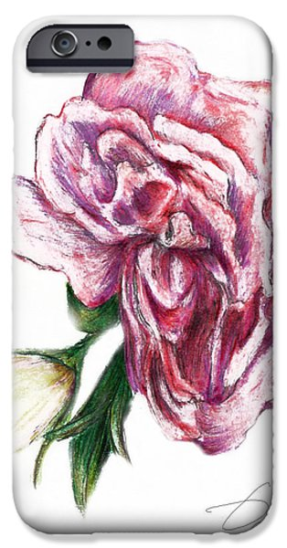 Flora Drawings iPhone Cases - Blossom iPhone Case by Danuta Bennett