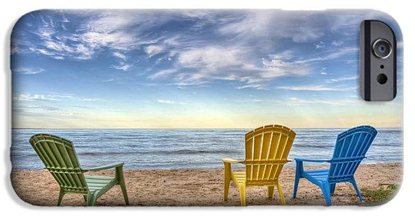 Water Ocean iPhone 6 Case - 3 Chairs by Scott Norris