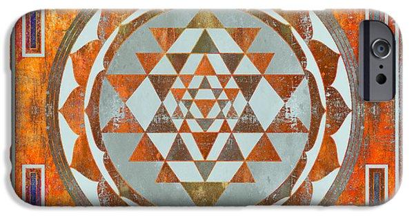 Buddhism iPhone 6 Case - Sri Yantra by Filippo B