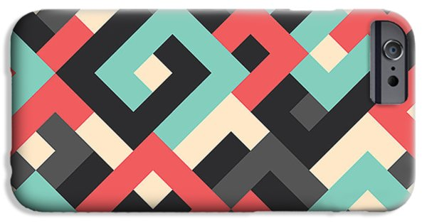 Red iPhone 6 Case - Pixel Art by Mike Taylor