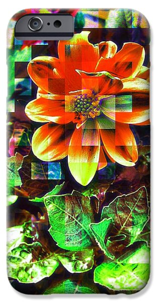 Edit iPhone 6 Case - Abstract Flowers by Chris Drake