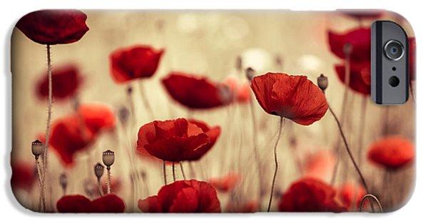 Red iPhone 6 Case - Summer Poppy by Nailia Schwarz