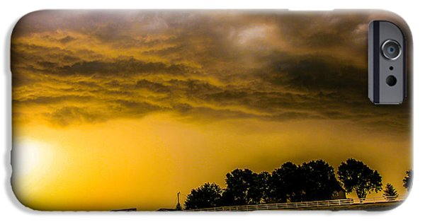 Nebraskasc iPhone 6 Case - Late Afternoon Nebraska Thunderstorms by NebraskaSC