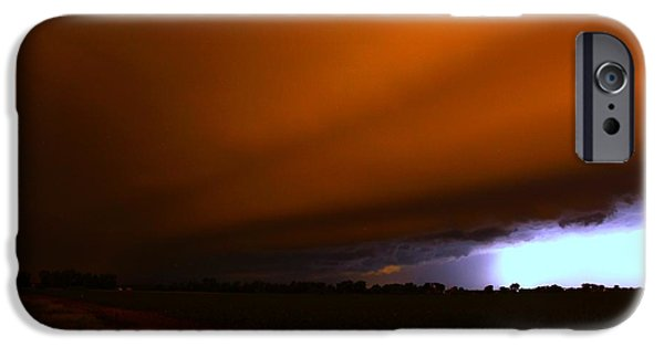Nebraskasc iPhone 6 Case - Late Night Nebraska Shelf Cloud by NebraskaSC