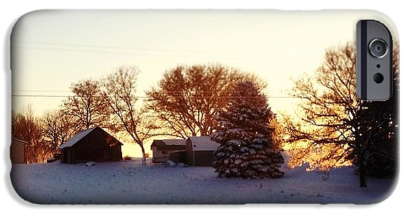 Blue iPhone 6 Case - A Snowy Morning by Christy Beckwith