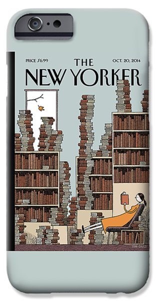 20th iPhone 6 Case - Fall Library by Tom Gauld