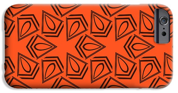 Illusion iPhone 6 Case - Abstract Geometric Seamless Pattern by Alexander Rakov