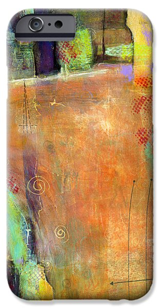 Conceptual Mixed Media iPhone Cases - Abstract Painting Simple Pleasure iPhone Case by Blenda Studio