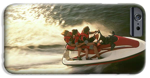 Jet Ski iPhone 6 Case - Aerial View A Family Racing by Joel Sheagren
