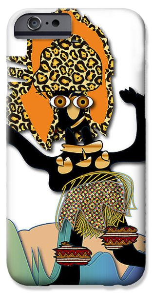 IPhone 6 Case featuring the digital art African Dancer 6 by Marvin Blaine