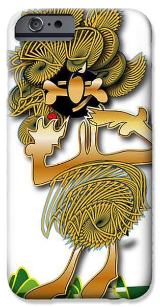 IPhone 6 Case featuring the digital art African Dancer With Bone by Marvin Blaine