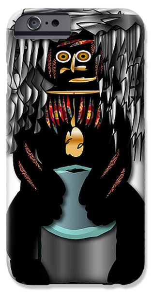 IPhone 6 Case featuring the digital art African Drummer 2 by Marvin Blaine