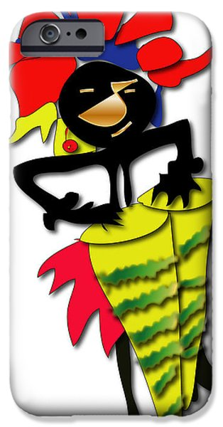 IPhone 6 Case featuring the digital art African Drummer by Marvin Blaine