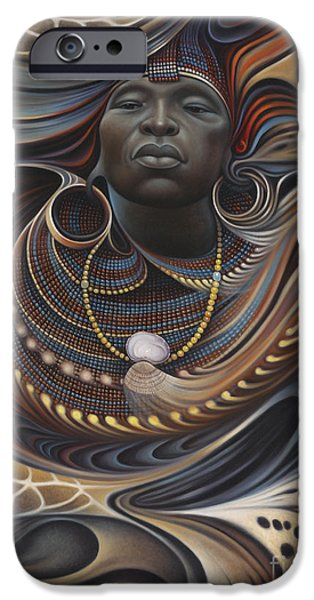 Brown iPhone 6 Case - African Spirits I by Ricardo Chavez-Mendez