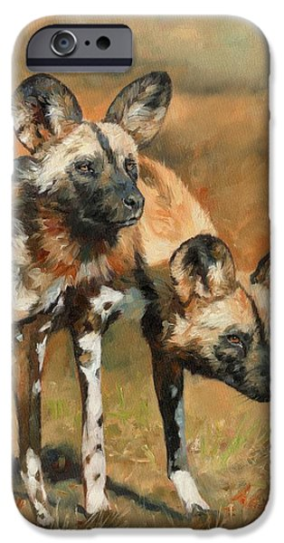iPhone 6 Case - African Wild Dogs by David Stribbling