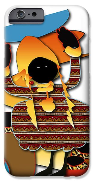 IPhone 6 Case featuring the digital art African Worker by Marvin Blaine