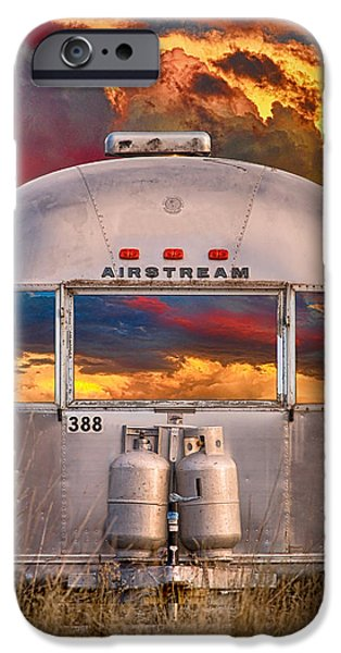 Airstream Travel Trailer Camping Sunset Window View IPhone 6 Case