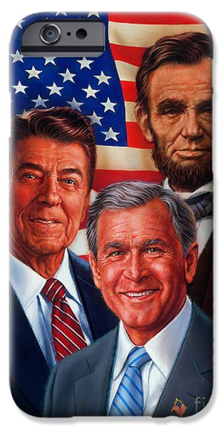 President iPhone Cases - American Courage iPhone Case by Dick Bobnick