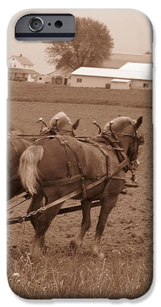 Amish Farmer iPhone Case by Janet Pugh
