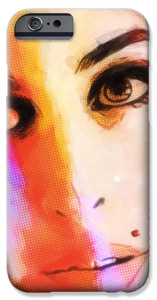 Amy pop-art iPhone Case by Lutz Baar
