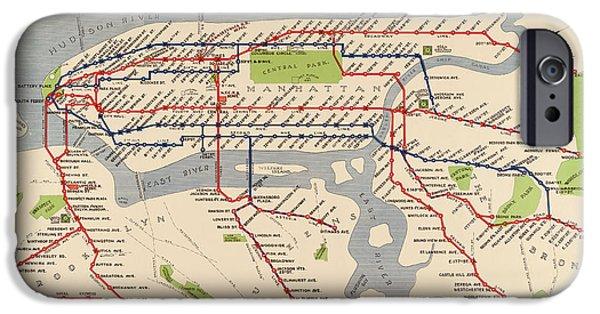 Nyc Subway Map Iphone 5 Case.New York Transit Iphone 6 Cases Fine Art America