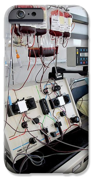 Donation iPhone 6 Case - Apheresis Machine by Aj Photo/science Photo Library