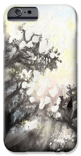 IPhone 6 Case featuring the painting Arbres En Feu by Marc Philippe Joly