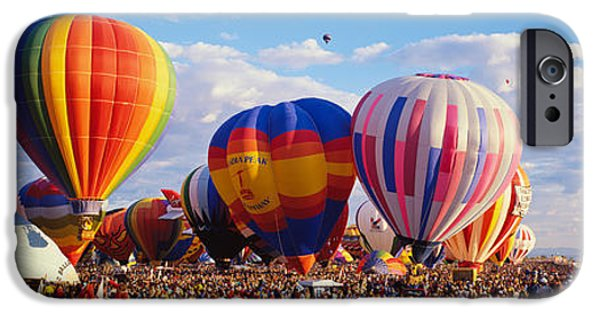 Hot Air Balloon iPhone Cases - Balloons Being Launched iPhone Case by Panoramic Images