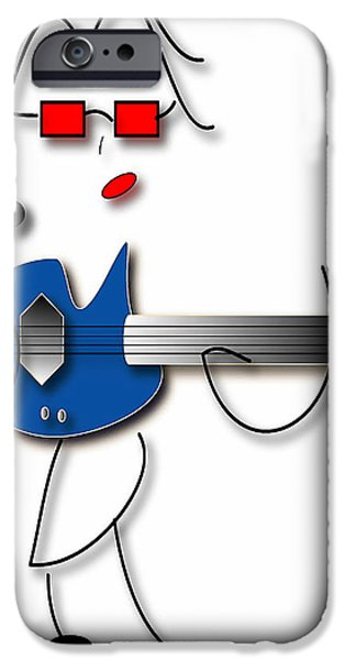 IPhone 6 Case featuring the digital art Bass Guitar Girl by Marvin Blaine