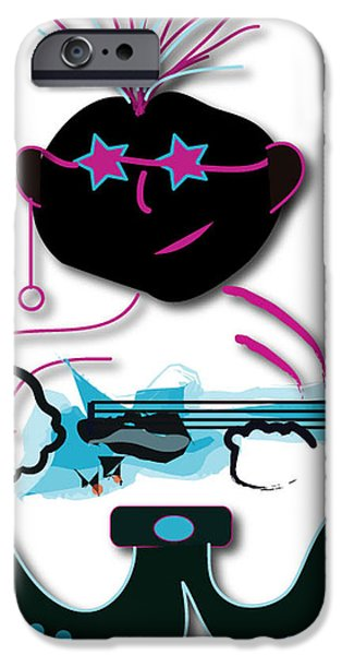 IPhone 6 Case featuring the digital art Bass Man by Marvin Blaine