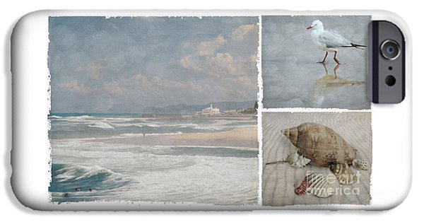 Beach Triptych 1 IPhone 6 Case by Linda Lees