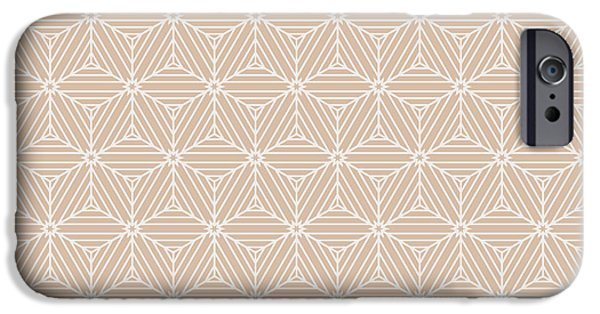 Illusion iPhone 6 Case - Beige Color Seamless Texture Of Cubes by Mademoiselle De Erotic