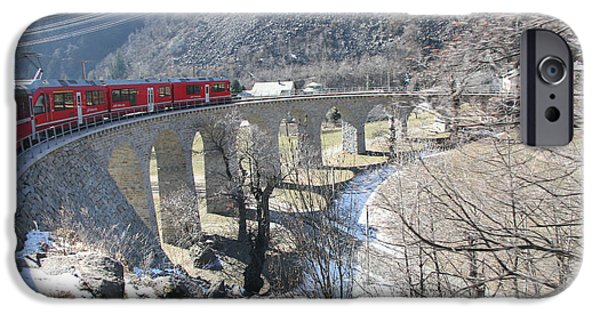 Bernina Express In Winter IPhone 6 Case by Travel Pics
