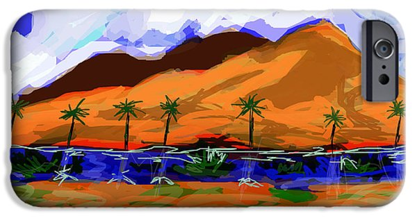 Moonscape Digital Art iPhone Cases - Between a rock and a hard place iPhone Case by Paul Sutcliffe