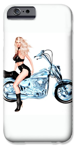 Luxmaris iPhone 6 Case - Biker Girl by Renate Janssen