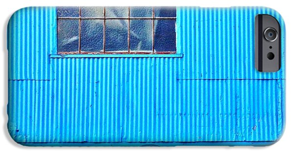 Blue iPhone 6 Case - Bins And Chairs by Julie Gebhardt
