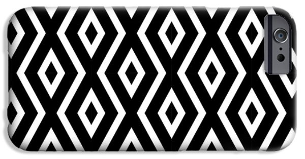Artwork iPhone 6 Case - Black And White Pattern by Christina Rollo