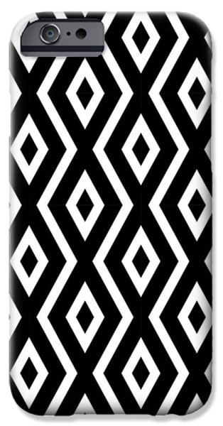 Pattern iPhone 6 Case - Black And White Pattern by Christina Rollo