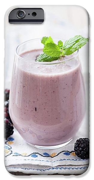 Smoothie iPhone 6 Case - Blackberry And Apple Smoothie by Gustoimages