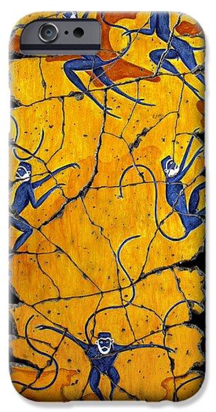 Bogdanoff iPhone 6 Case - Blue Monkeys No. 41 by Steve Bogdanoff