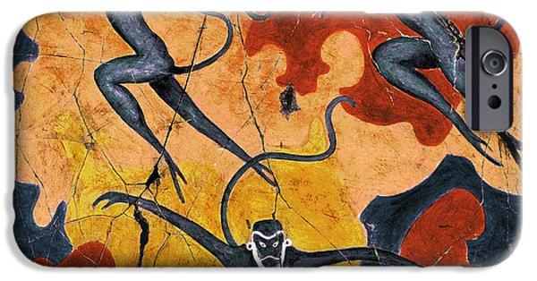 Bogdanoff iPhone 6 Case - Blue Monkeys No. 8 - Study No. 1 by Steve Bogdanoff