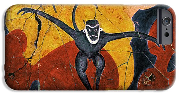 Bogdanoff iPhone 6 Case - Blue Monkeys No. 8 - Study No. 3 by Steve Bogdanoff