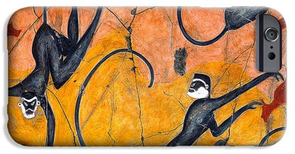 Bogdanoff iPhone 6 Case - Blue Monkeys No. 9 - Study No. 4 by Steve Bogdanoff