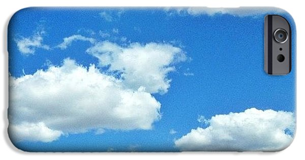 Sunny iPhone 6 Case - Blue Sky And White Clouds by Anna Porter